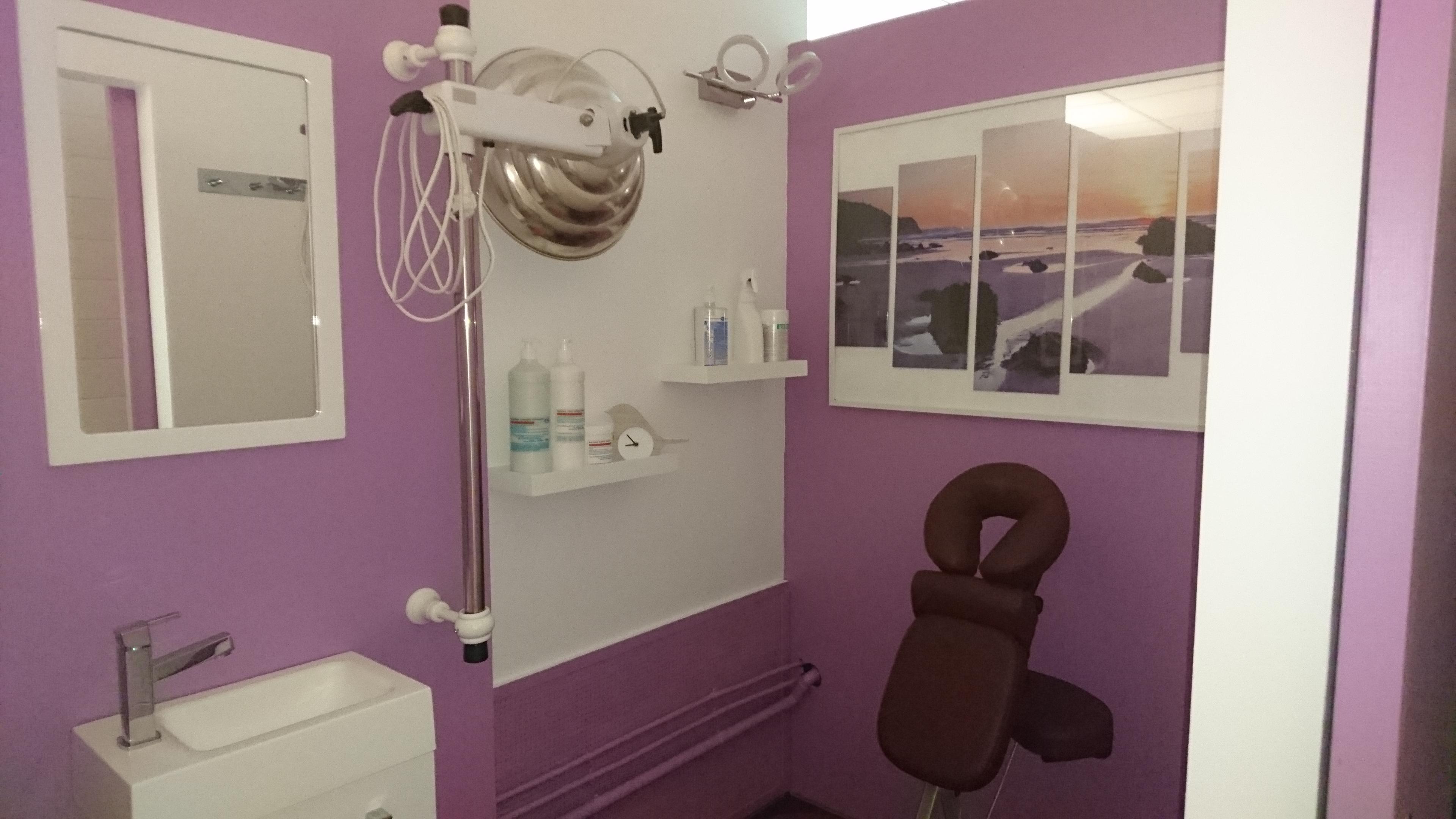salle de massage du cabinet de kiné à hyères les palmiers